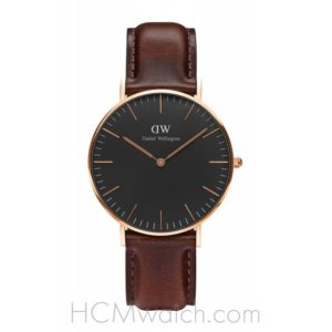 Đồng Hồ DW Classic Black Bristol 36mm DW00100137 - Rose Gold