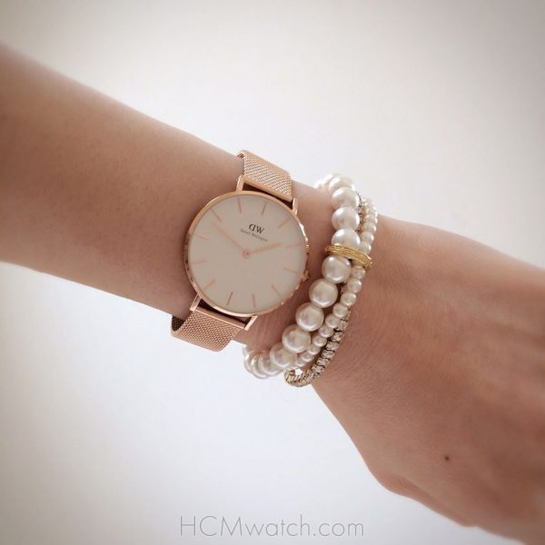 DW Classic Petite Melrose Rose Gold DW00100163 (4)