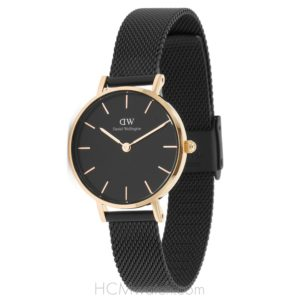 DW Classic Petite Black Ashfield 28mm DW00100245 - Rose Gold